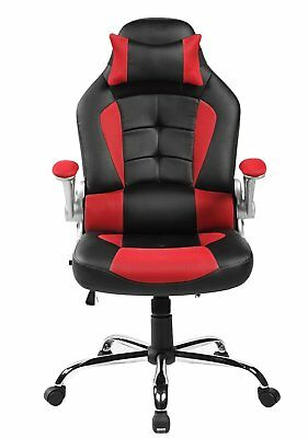 Merax High Back PU Leather Executive Office Racing Gaming Chair Computer Desk
