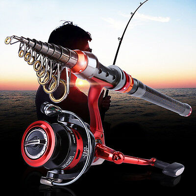 Fishing Rod with Reel Kit Combos Set Telescopic Spin Carbon Super for Fishing