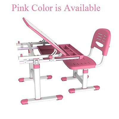 Brand New B201 Ergo Height Adjustable kids Study Desk & Chair Set, Pink
