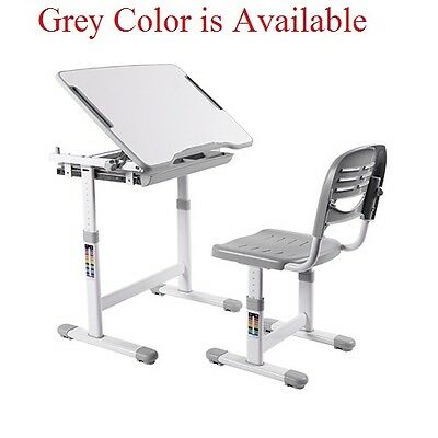 Brand New kids Study Desk and Chair suite B201 Ergonomics Height Adjustable,Grey