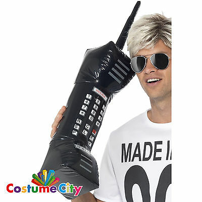 75cm Inflatable Retro Giant Mobile Phone 1980s 80s Fancy Dress Costume Accessory