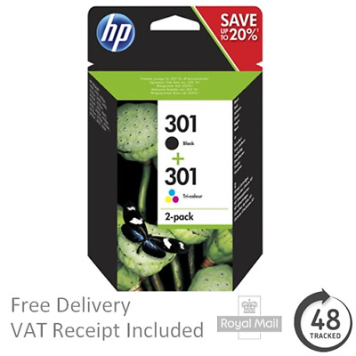 Genuine Original HP 301 Black & Colour Ink Cartridges for HP Envy 5530