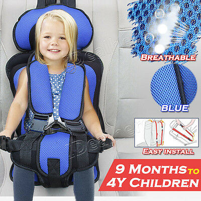 Car Baby Child Seat Portable Toddler Convertible Safety Booster Chair Blue New
