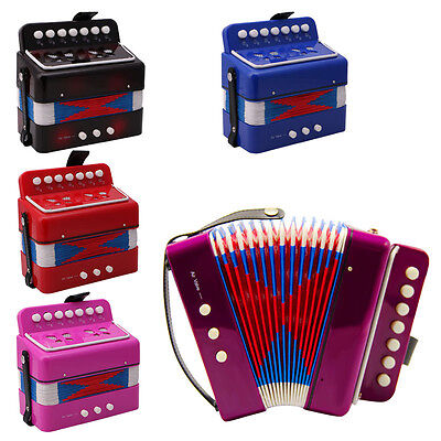 7 Keys Small Accordion Music Instrument Toy Gift For Kids Children Student