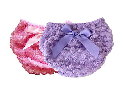 Rose Shorts Girl Flower Ruffle Panties Diaper Pants Cotton For 0-24 Months Baby