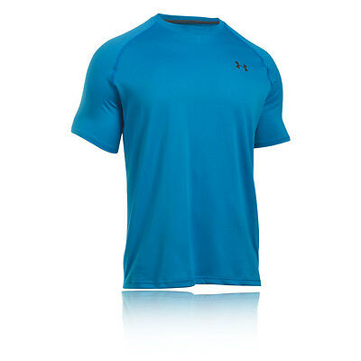 Under Armour Tech Hombre Azul Manga Corta Running Deporte Camiseta Top Correr