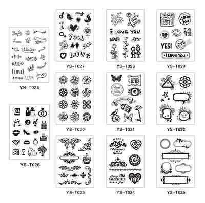 Silicone Clear Rubber Stamps Seal Scrapbooking Album Card Making Decor DIY Craft