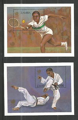 Zambia 1988 Olympic Games M/sheets Sg,ms566 U/m N/h Lot 908A