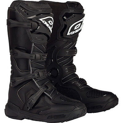 Oneal Element IV CE Black Motocross Boots O'Neal MX Off Road ATV Quad All Sizes
