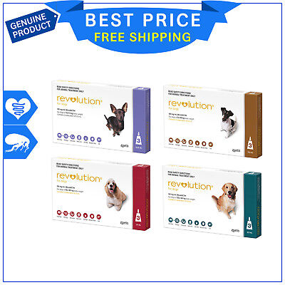 Revolution for Dogs 3 Pipettes flea and heartworm treatment all sizes