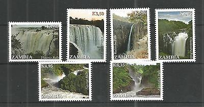 Zambia 2014 Waterfalls Sg,1152-1157 U/m N/h Lot 911A