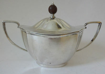 Vinatge Solid Silver heavy LIDDED SUGAR BOWL 12.5 tr oz B'ham 1934 - sterling RG