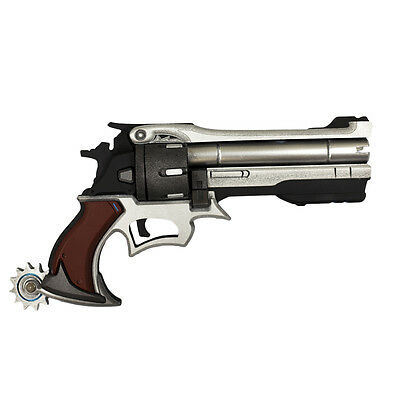 Overwatch OW Jesse Mccree Gun Weapon PVC Cosplay Prop 13.7""