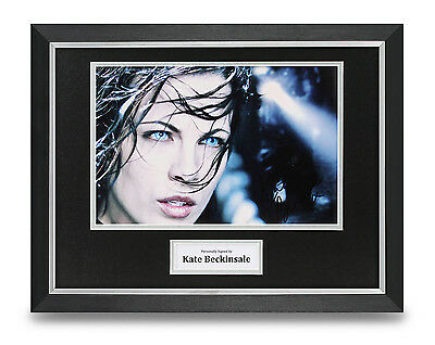 Kate Beckinsale Signed Photo Framed 16x12 Underworld Autograph Display + COA