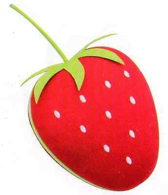 BUTTON IT Strawberries and Cream Novelty Strawberry Pin Cushion.