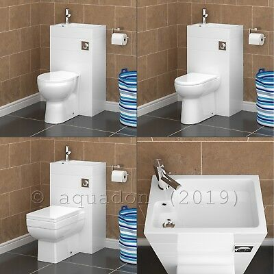 BTW 500mm Bathroom Space Saving WC Toilet & Basin Sink Combination Cloakroom