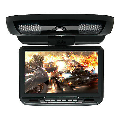 "9"" Car Roof Mounted DVD Player Flip Down Overhead HD Monitor Game Handles Black"