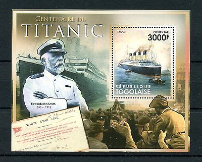 Togo Togolaise 2011 MNH RMS Titanic Centenary Launch 1v S/S Ships Boats Stamps