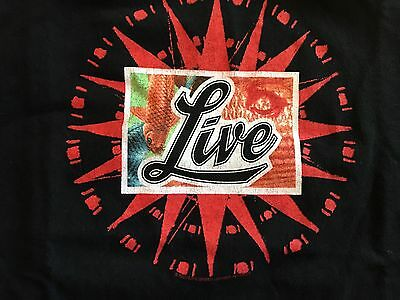 LIVE 2000 The Distance To Here Concert Tour T-SHIRT L Rock Band Throwing Cooper