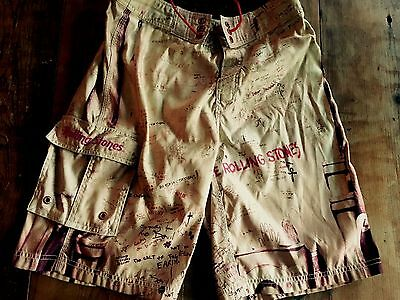 The Rolling Stones Shorts Board Official Size 30 Rare Tattoo You bathing suit