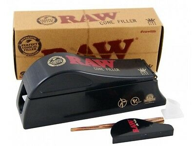 RAW Cone Shooter Filler King Size Cigarette Rolling Machine Smoking Papers Cones