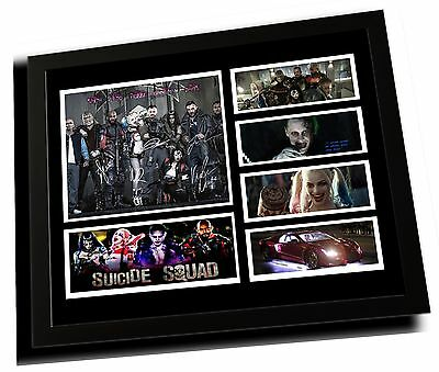 Suicide Squad Cast Margot Robbie Signed Limited Edition Framed Memorabilia