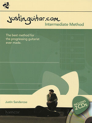 JustinGuitar.com Intermediate Method Guitar TAB Music Book/2CDs