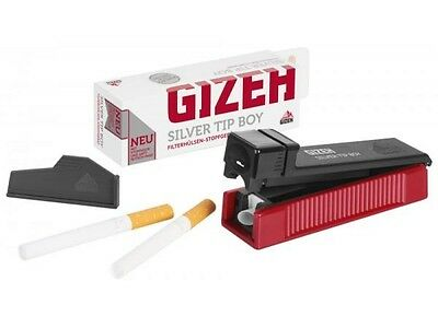 Gizeh Silver Tip Boy Regular Cigarette Tubing Machine Tubing Smoking Rolling