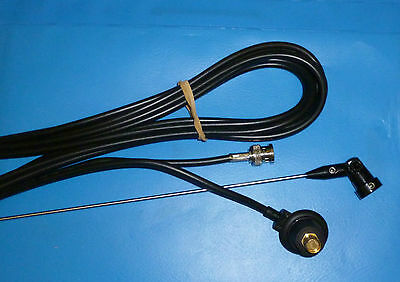 LOW BAND 81 mhz BODY MOUNT ANTENNA & HINGED WHIP MOTOR SPORT PMR  BNC