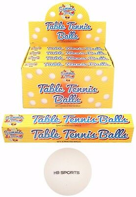 6 12 24 36 72 144 Table Tennis Balls Ping Pong HB Logo 40mm White