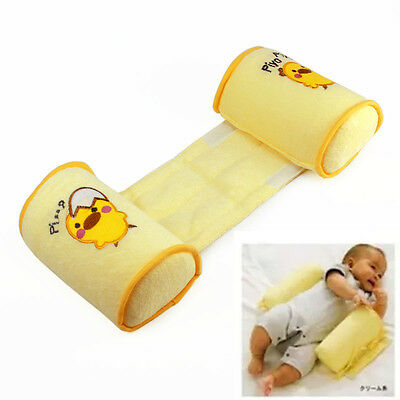 Cotton Toddler Sleep Baby Anti Roll Pillow Yellow Head Positioner Anti-rollover