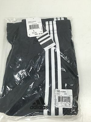 Youth L Adidas Tiro 11 Shorts  - Black/White - Brand New With Tags