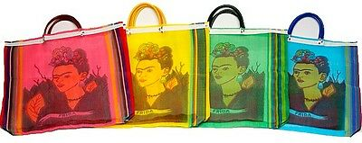 #940 Pack of 12 Tote Bag Frida Kahlo Reusable Market Mexico Artisan Wholesale