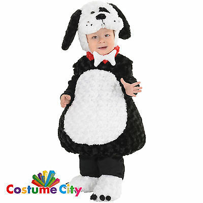 Childs Toddlers Cute Black White Puppy Dog Pet Animal Fancy Dress Party Costume