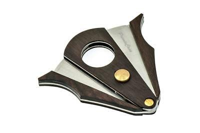Premiacasa Pocket Wood Stainless Steel Double Blades Cigar Cutter