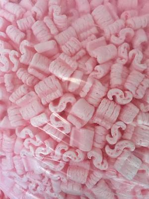 Packing Peanuts Loose Fill Anti Static Pink 16 Cubic Feet/120 Gallons Brand New