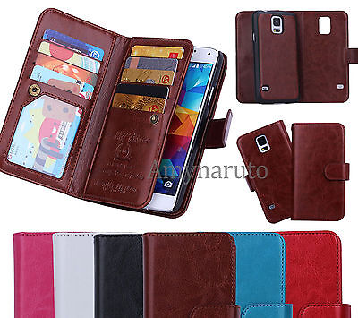 Magnetic Filp Leather Cell Phone Cover Case Wallet Purse Credit Card Cash Holder