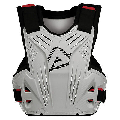 Acerbis Impact Mx Chest Protector White Roost Motocross Enduro Body Armour Mx