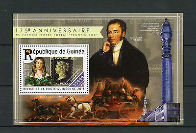 Guinea 2015 MNH Penny Black 175th Anniv 1v S/S Rowland Hill Stamps on Stamps