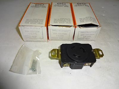 Lot Of 3 Pass & Seymour L1020R Single Receptacle 20 Amp, 125/250V