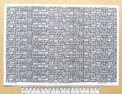 "OO/HO gauge (1:76 scale) ""Block stone"" -  paper- A4 sheet"