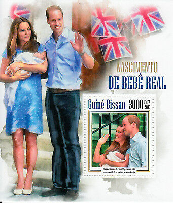 Guinea-Bissau 2013 MNH Prince George Royal Baby Birth 1v S/S William Kate Stamps