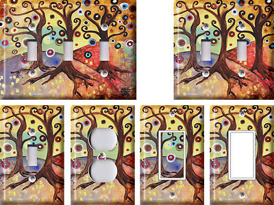 Abstract Trees - Light Switch Covers Home Decor Outlet