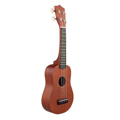 21'' Ukulele Uke Wood Instrument Soprano Hawaiian Style Guitar Beginners Coffee