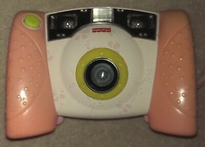 Fisher Price Kid Tough Digital Camera~Pink Floral~Tested Works~J8209~Girl's