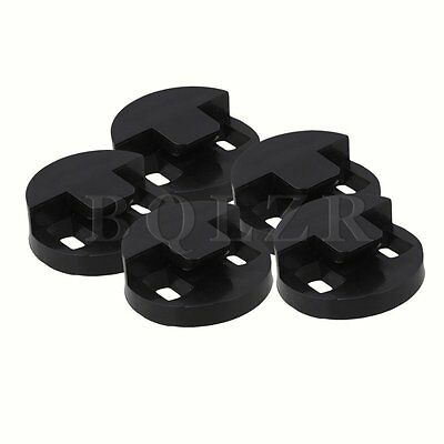 5x BQLZR Black Rubber Two Holes Bass Mute for String Double Bass Instrument