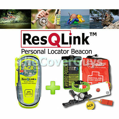 ACR ResQLink+ Plus PLB / EPIRB With Built in GPS + Massive Bonus Package