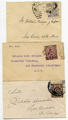 Mexico Miniature Envelopes 3 Items 1910-15 Two Unsealed