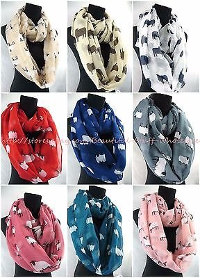 US SELLER-lot of 10 animal sheeps infinity scarf wholesale infinity scarf