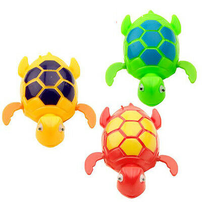 Lovely Baby Educational Toys Swiming Animal Turtle Baby Bath Toy Random Color
